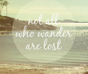 beach, lost, and quote image