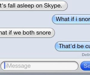 skype, text, and cute image