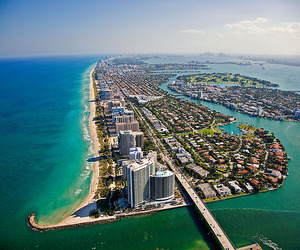 beach, beautiful, and Miami image