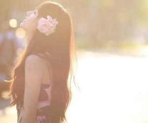 asian girl, flower, and girl image