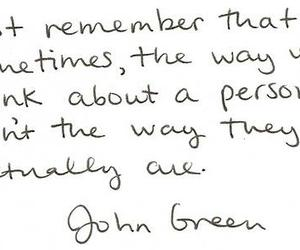 quote, john green, and remember image