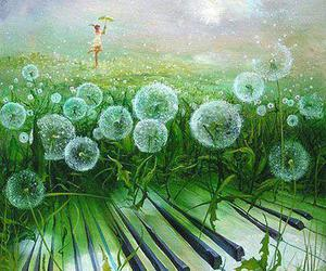 magical and dandilions image