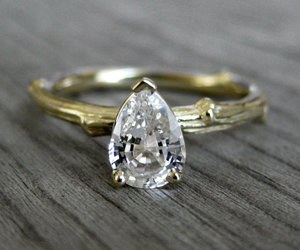 diamond, golden ring, and ring image