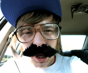 boy, glasses, and mustache image