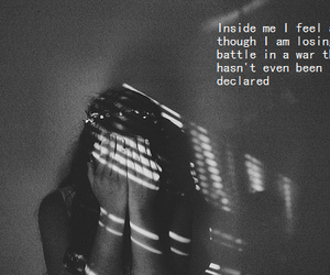 emo, girl, and quote image