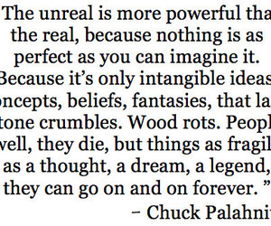 quote, chuck palahniuk, and unreal image