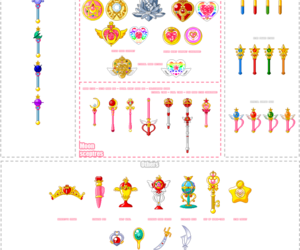 pixel, senshi, and tiara image