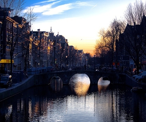 bridge, sunset, and dreamy places image