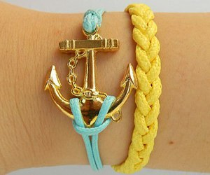bracelet, fashion, and leather bracelet image