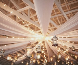light, wedding, and lantern image