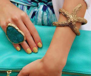 big ring, bracelet, and fashion image