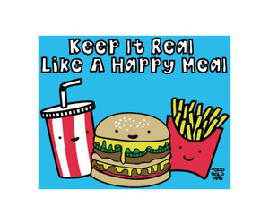 comment, kawaii, and happy meal image