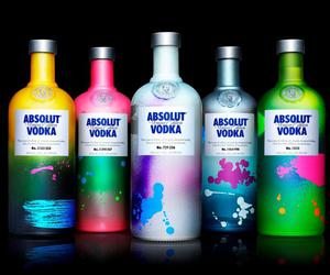 vodka, absolut, and colors image