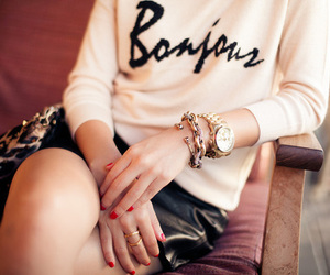 bonjour, fashion, and girl image