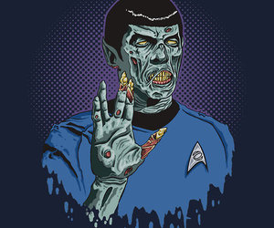 star trek, zombie, and spock image