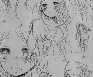 expressions, girl, and manga image