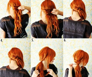 ginger, hair style, and ponytails image