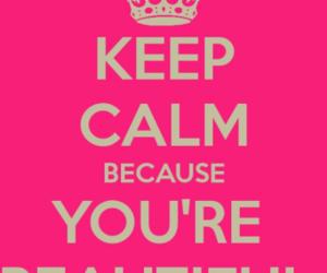 keep calm, beautiful, and pink image