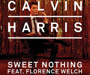 calvin harris, sweet nothing, and florence welch image