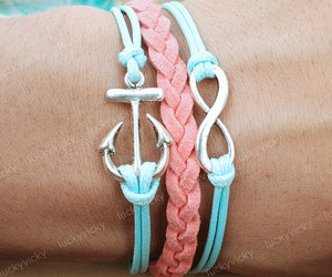 bracelet, infinity, and anchor image