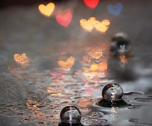 heart, water, and waterdrops image