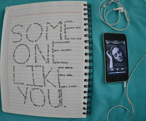 Adele, someone like you, and music image