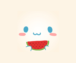 cute, watermelon, and kawaii image