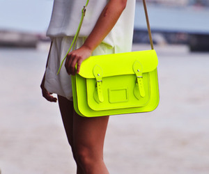 bag, fashion, and neon image