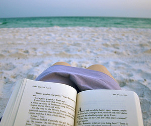 beach, book, and read image