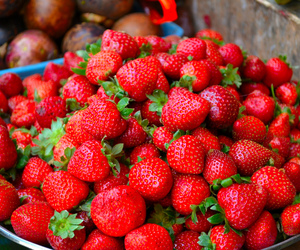 strawberry, healthy, and fitness image