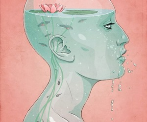 illustration and water lillie image
