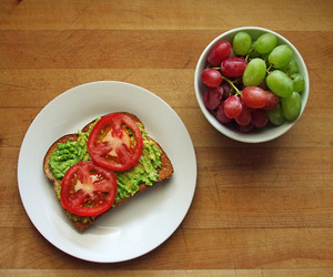 avocado, exercise, and tomatoes image