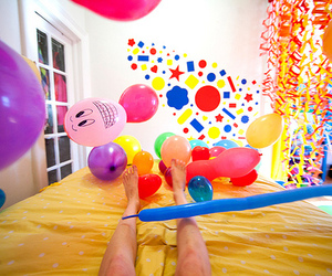 ballon, colour, and foot image