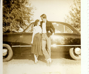 vintage, car, and couple image