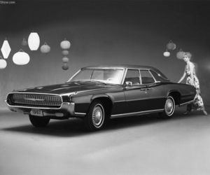 ford, thunderbird, and vintage image