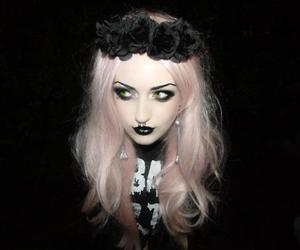 black, goth, and pastel goth image