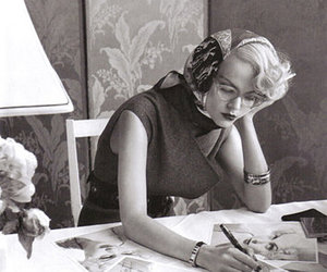 autograph, headscarf, and Marilyn Monroe image