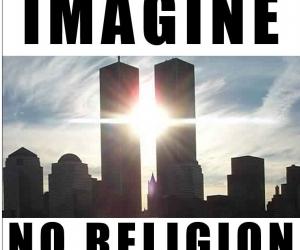 atheism, word, and buldings image