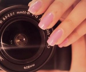 camera, nails, and pink image