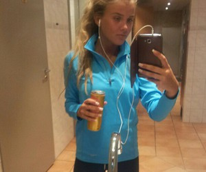blonde, health, and fit image