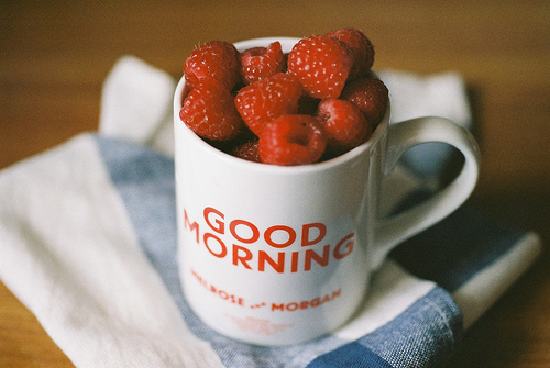 good morning, morning, and raspberry image