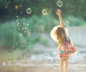 bubbles, child, and kids image