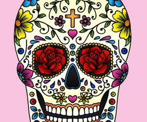 skull, sugar skull, and cross image