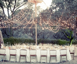 wedding, light, and table image