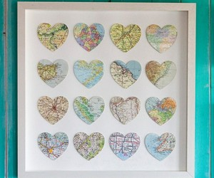 heart, map, and places image