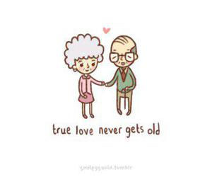 love, old, and true love image