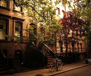 house, new york, and street image
