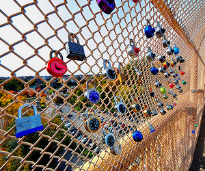 love, lock, and photography image