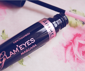 mascara, pink, and makeup image