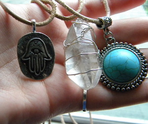 necklace, grunge, and hippie image